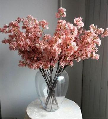 3pcs Artificial Cherry Blossom Branches Flowers Stem Silk Fake Flower Home Decor