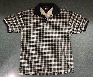 ee1f4b5b Image is loading Vintage-90s-Mens-Tommy-Hilfiger-Plaid-Polo-Large