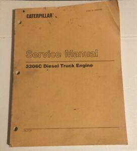 Caterpillar OEM 3306C 7RJ1-up, Diesel Truck Engine Service Manual. Cat Original.