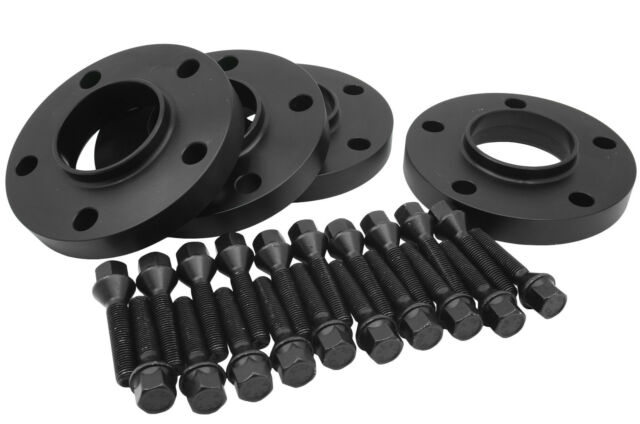 Black BMW | 5x120 | Wheel Spacers Staggered Set (2) 12mm & (2) 20mm W/ Bolts