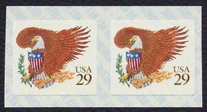 #2595 29c Águila & Escudo, Bobina Par, Nuevo Cualquier 5=