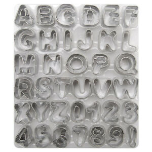 Wilton Cake Decorating ALPHABET CUT OUTS SET 3/4
