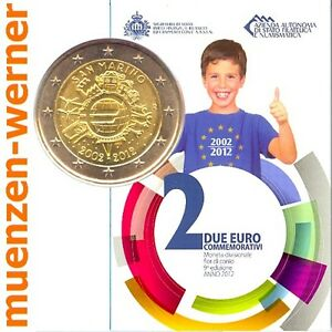 Sondermuenzen-San-Marino-2-Euro-Muenze-2012-Euro-Bargeld-Sondermuenze-Gedenkmuenze