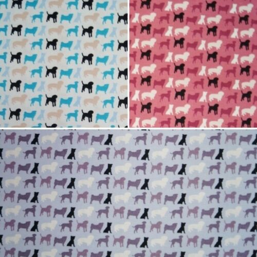 Fabric Freedom Doggy Multi Coloured Dog Breeds Silhouettes 100/% Cotton Fabric