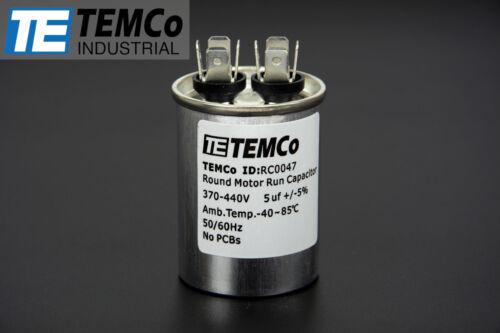 Condensador de ejecución TEMCo 5 MFD uf 370//440 Vac Voltios Motor De Aire Acondicionado Calefacción Ventilación Aire Acondicionado 5 uf