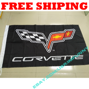 Garage Banner new Corvette Racing Flag