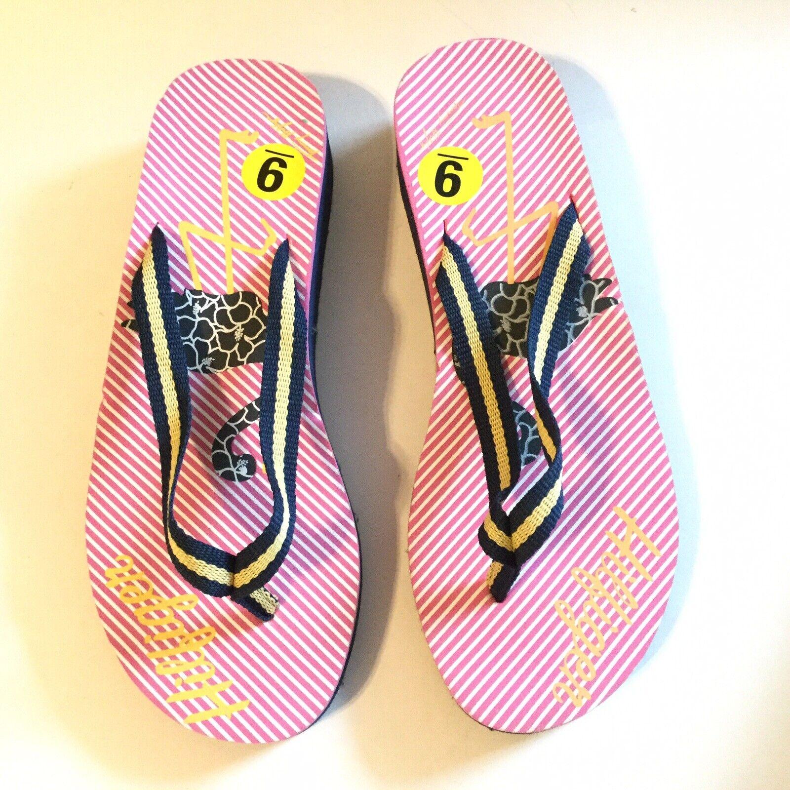 Tommy Hilfiger Women Size 9 Flip Flop Pink Navy S… - image 10