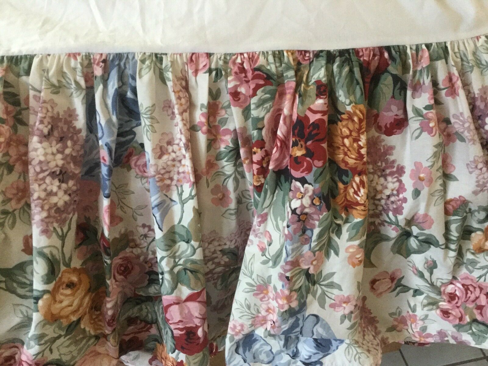 Vintage Ralph Lauren Allison Floral FULL lit jupe 15  Drop RIBBONS&ROSES