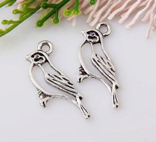 20pcs zinc alloy bird pendants 17x10mm #1A1359