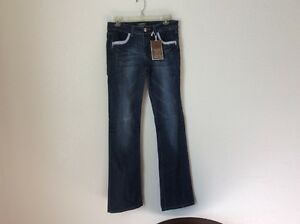 a441cf0753 Image is loading Cest-Toi-Jeans-Sz-9-Dark-Distress-Denim-