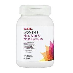 Gnc Women S Hair Skin Nails Formula 120 Cablets 048107155544