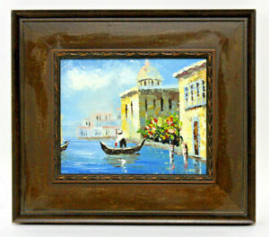 """Venice Scene 20x24/"""" Hand Painted Modern Impressionist Oil Painting On Canvas"""