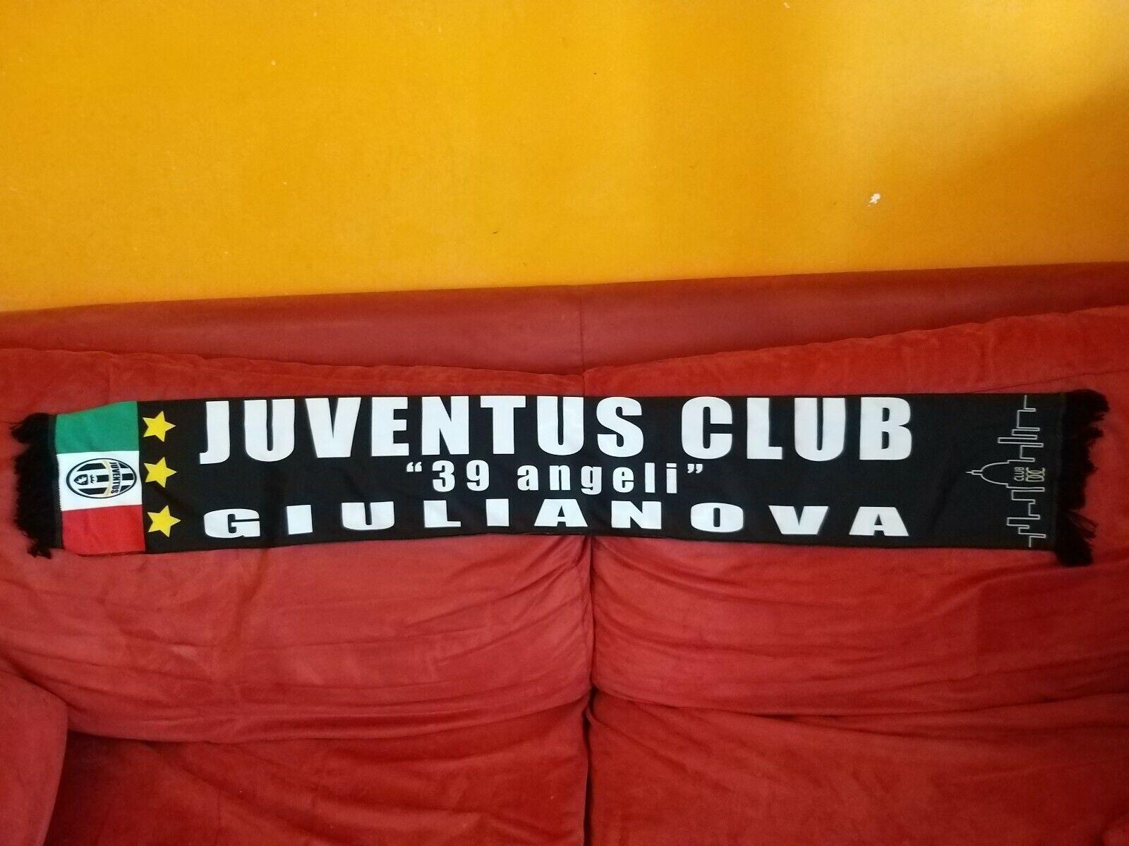 Rarissima sciarpa Juventus CLUB 39 angeli Giulianova in seta