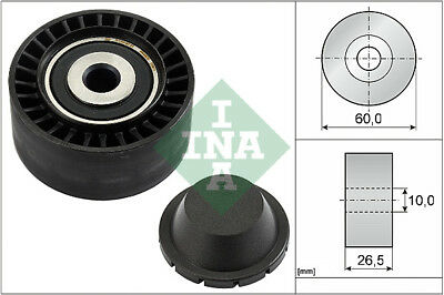 PEUGEOT 206 1.1 Aux Belt Idler Pulley 1998 on Guide Deflection INA 1611422980