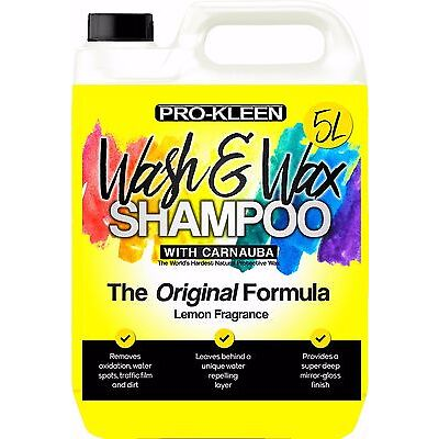 Car Wash and Wax Shampoo Genuine Pro-Kleen 5L  PH Neutral Cleaning FAST DISPATCH