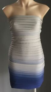 KOOKAI Grey   Blue Ombre Strapless Bodycon Mini Dress Size 2 10 ... 19321a2d8