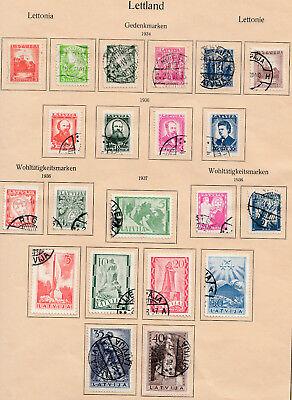 Aktiv Latvija Lettland 1934,1936,1937 Sätze Gestempelt Auf Vordruck SorgfäLtige Berechnung Und Strikte Budgetierung Europa