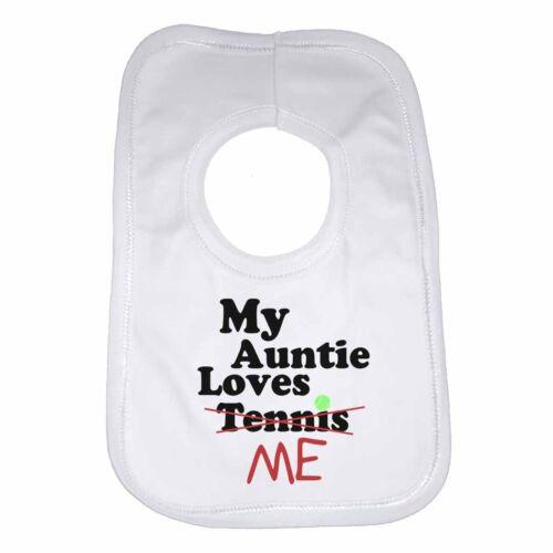 Mi tía Loves me not TENIS-Personalizado Babero De Bebé Ropa De Regalo Divertido Lindo