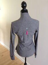 Lululemon Define Jacket LS Thumb Holes Heathered Gray Pink Sz 4 EUC RaRe