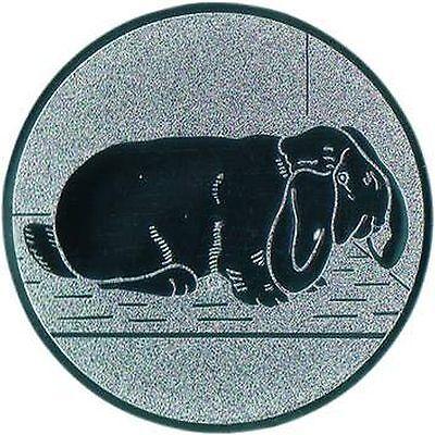 100 Widder Kaninchen Embleme gold 25mm (für Medaillen Pokale Pokal Widder Hase)