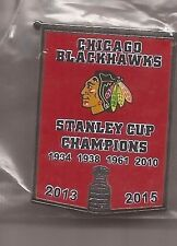 Chicago Blackhawks Stanley Cup Banner Pin