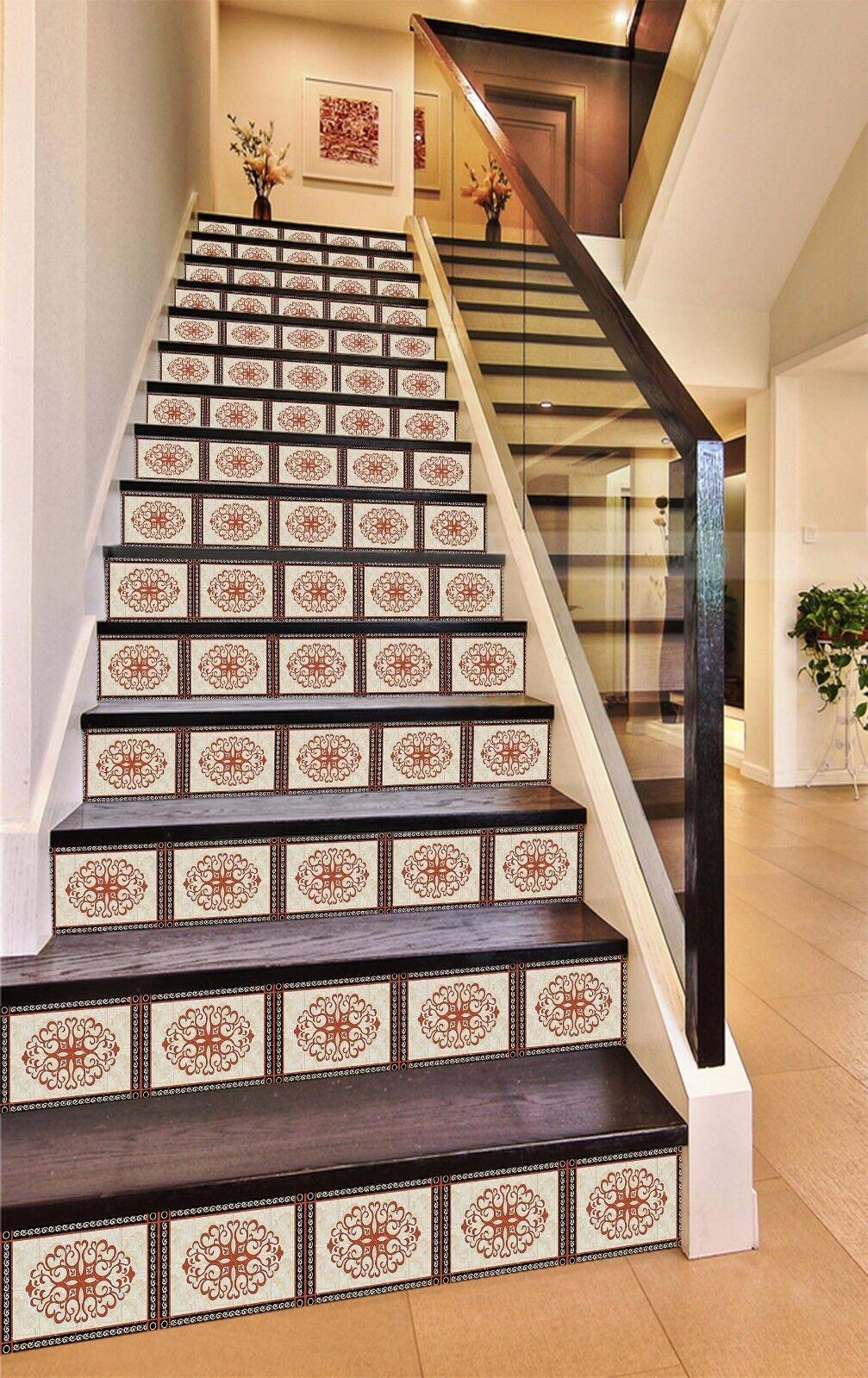 3D Rebemuster 3821 Stair Risers Dekoration Fototapete Vinyl Aufkleber Tapete DE