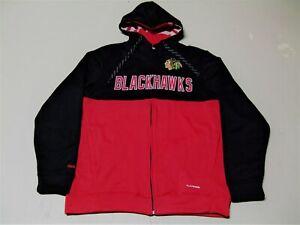NWT-NHL-Reebok-Center-Ice-Chicago-Blackhawks-sewn-Hoodie-hockey-sweatshirt-Med