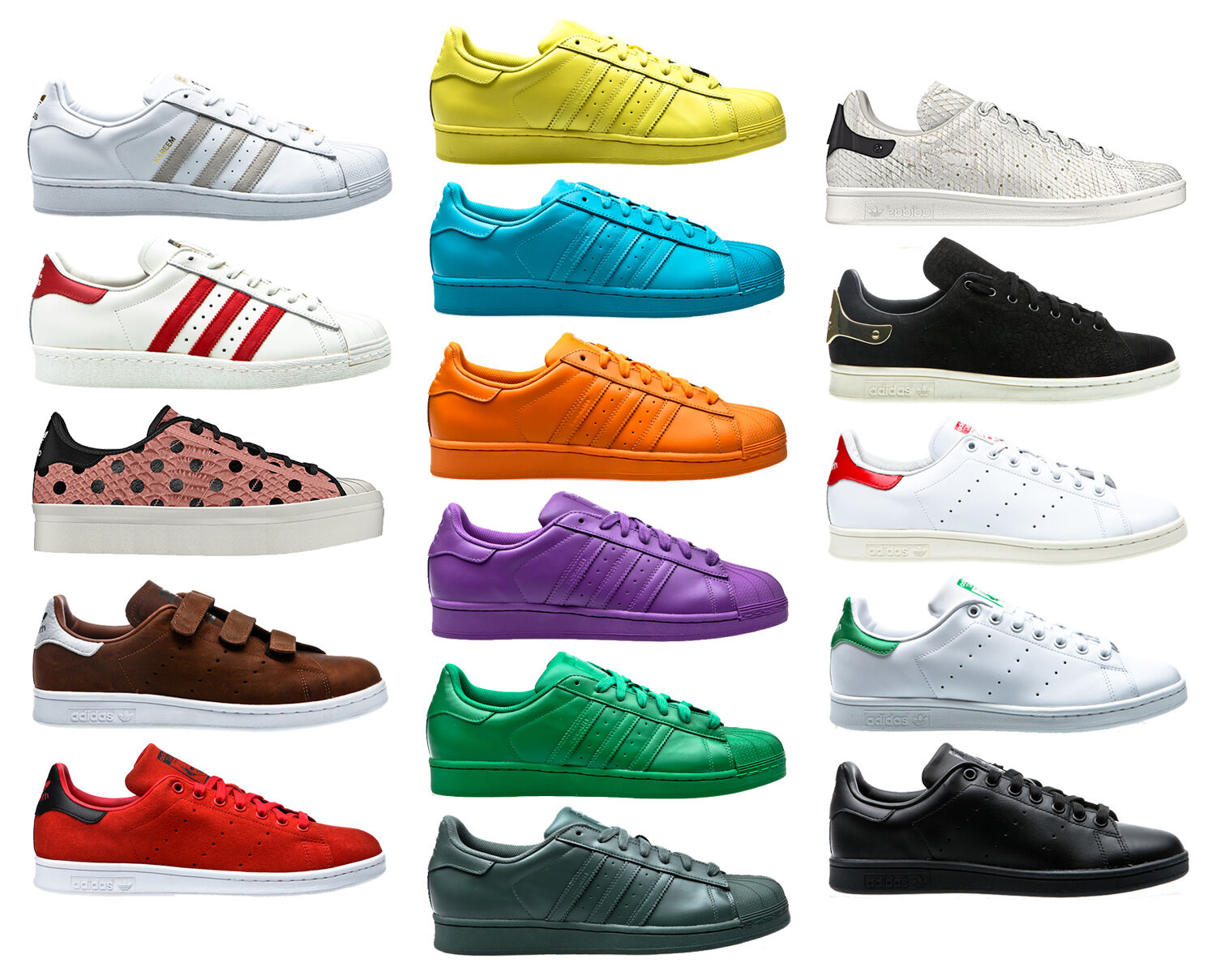 Adidas LOS Superstar Supercolor PAQUETE DE LOS Adidas AÑOS 80 DLX Stan Smith 00f451