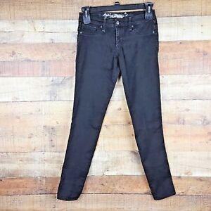 Express-Jeans-Women-039-s-Size-4-Jean-Legging-Stella-Low-Rise-Black-DS25