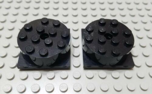 Lego Lote De 2 Black Brick Grosso 4x4 Toca-Discos Spinner Peças