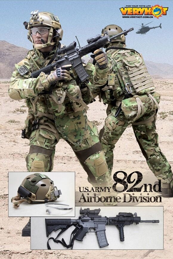 VERY HOT US ARMY 82nd Airborne Division Set 1/6