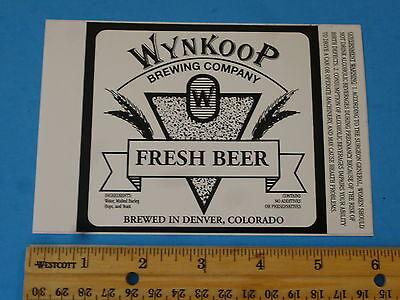 COLORADO Big Red Delivery Truck Denver BEER STICKER ~ WYNKOOP Brewing Company