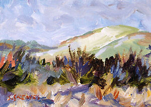 Gorse-Thicket-POSTCARD-Steve-Greaves-Painting-Art-Card-Landscape-Acrylic-Scene