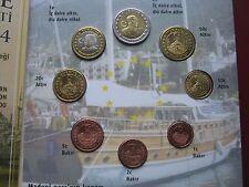 Turkey 2004 1 Cent - 2 Euro Pattern Essai Prototype 8 coin set sealed folder