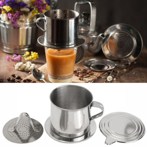 1PC Stainless Steel Vietnamese Coffee Drip Maker Infuser Set 8.5x7x Deko
