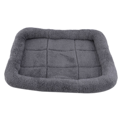 Soft Padded Pet Bolster Bed Dog Cat Crates Carrier Bag Cushion Mat Cozy Place