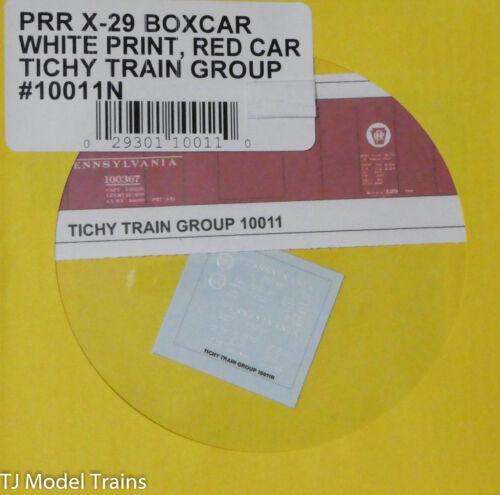 N Scale Tichy Train Group Decal #10011N PRR X-329 Boxcar-White Print Red Car