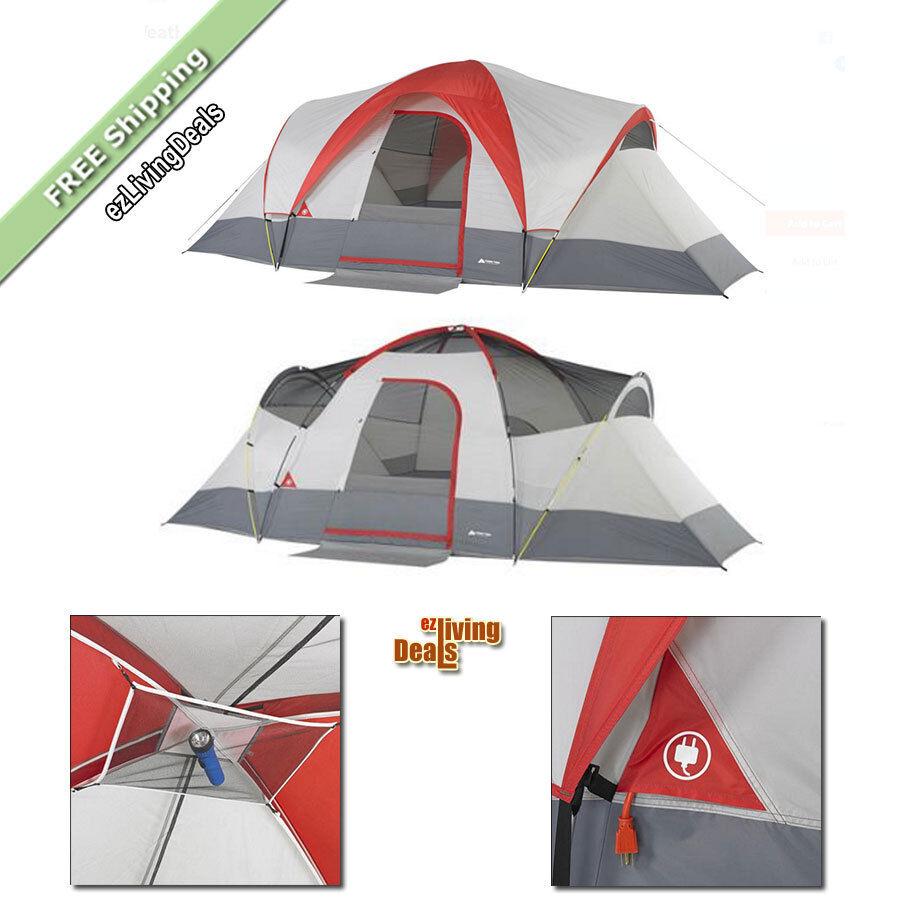 Ozark Trail 9 persona tienda 18'x10' al toda la temporada al 18'x10' aire libre familia cúpula refugio campamento 7b3f87