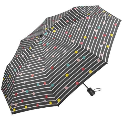 Regenschirm Damen stabil grau bunt bedruckt Punkte Bikini Dots Stripes