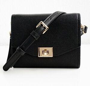 Details about Michael Kors Shoulder Bag Cassie cross Body Crossbody Leather Black New