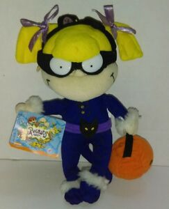 "1997 8"" Nickelodeon Applause Rugrats Angelica Plush Stuffed Doll HALLOWEEN"