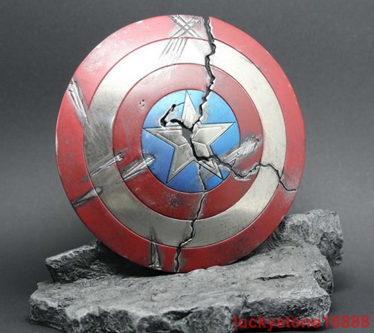 1  6 Scale Accessories modellololo Captain America Metal Shield (Damaged Ver) Statue  fino al 42% di sconto