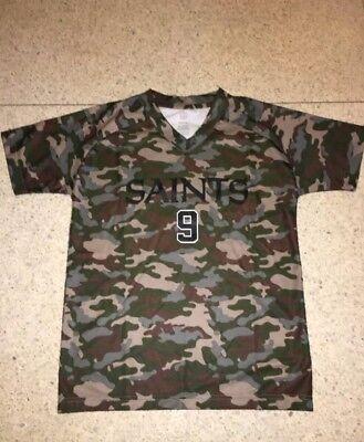 NWT NEW ORLEANS SAINTS BOYS DREW BREES #9 GREEN CAMO camouflage JERSEY SHIRT   eBay