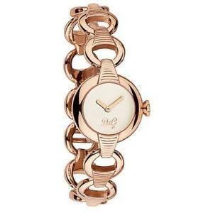 D-amp-G-Dolce-amp-Gabbana-DW0344-Pattern-Armbanduhr-Damen-Edelstahl-Rosegold-Neu