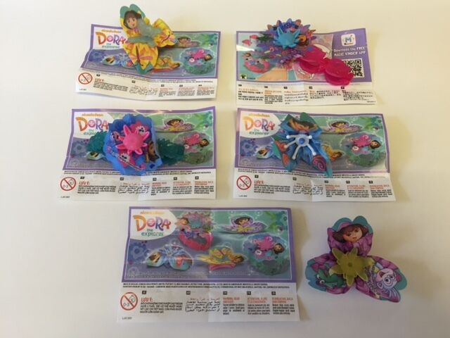 Kinder Surprise Dora The Explorer GIRLS Limited Edition Set Of 5 INDIA Rare 2016