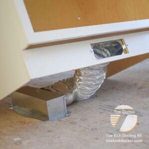 Toe Ductor Under Cabinet Toe Kick Ducting Kit Ebay