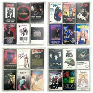 BUILD UR OWN Cassette Tape Lot - Movie, TV, Film Soundtracks - Rare Titles
