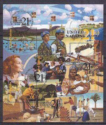 Jahrhundert Delicacies Loved By All Intelligent Uno New York 2000 Gestempelt Block 19 Vereinten Nationen Im 21 Stamps