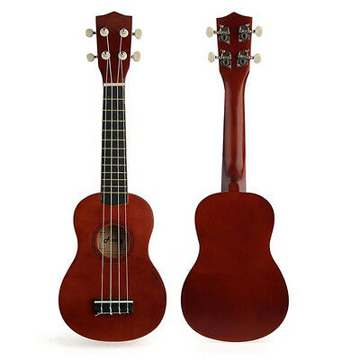 "Professional 21"" Acoustic Soprano Ukulele Musical Instrument Coffee High Quality"