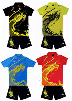 Lining Child Boy And Girl Badminton/table Tennis Shirt +shorts H029